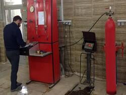 کارگاه شارژ کپسول آتش نشانی به دستگاه تست هیدرواستاتیک مجهز شد