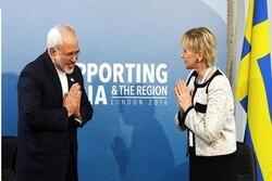 وزيرة خارجية السويد تؤكد أن محادثاتها مع ظريف بناءة وودية