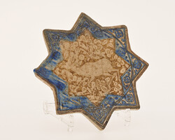 Star-shaped deer-tile, ceramic, Kashan, Iran, 13th century