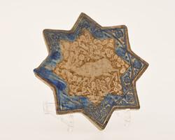 Star-shaped deer-tile, ceramic, Kashan, Iran, 13th century