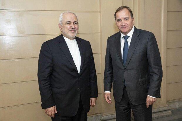 ایرانی وزیر خارجہ کی سویڈن کے وزير اعظم سے ملاقات