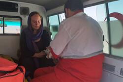 واژگونی خودرو در دریاچه تار دماوند/جان خانم سوییسی نجات یافت