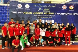 Iran finishes third at Asian Junior Wushu C'ships