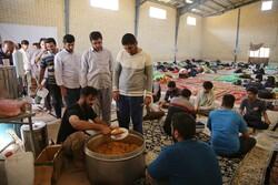 صوبہ خراسان شمالی  میں امدادی کیمپ