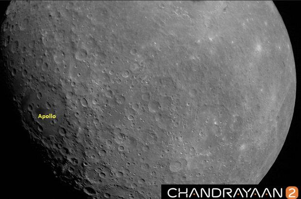 فضاپیمای «چاندرایان۲» از ماه عکس گرفت