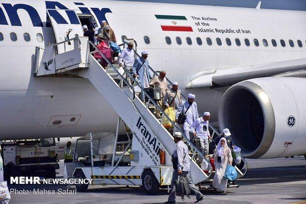 Iranian Hajj pilgrims return home