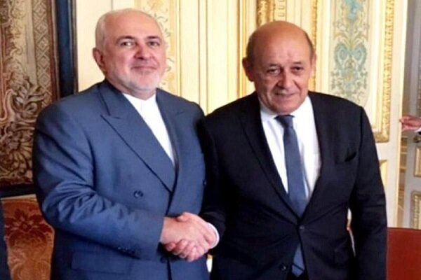 Zarif meets with French counterpart in Paris to discuss JCPOA