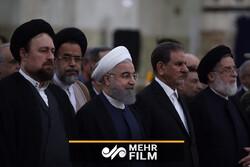 تجدید میثاق روحانی و اعضای هیئت دولت با آرمانهای امام خمینی (ره)