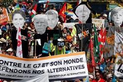 اعتراضات گسترده مردمی در فرانسه علیه نشست جی ۷