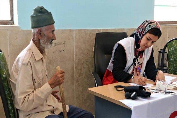 کاروان سلامت مهمان «حسن آباد» در زیرکوه / ۵۰ نفر خدمات گرفتند