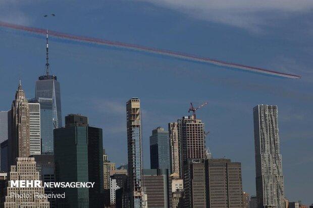 """الطائرات الحربية البريطانية تحلق فوق سماء """"نيويورك"""""""