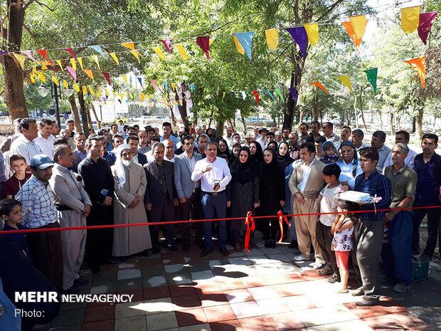 آمفی تئاتر روباز هنر واقع در پارک ملت مریوان افتتاح شد