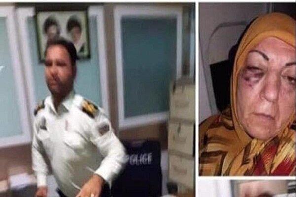 وفد ايراني يزور السيدة المتعرضة للضرب في مطار مشهد / فيديو