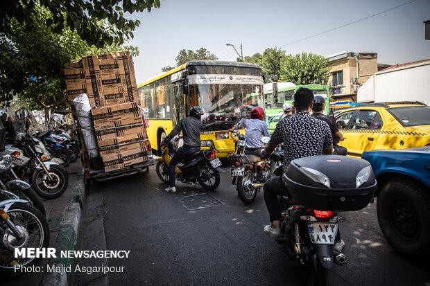 موتورسواران در سطح شهر تهران