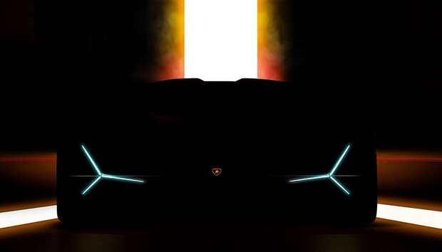 لامبورگینی تصویر خودروی مرموزش را منتشر کرد