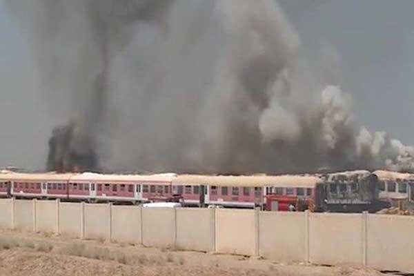 جزئیات آتش سوزی مهیب واگن قطار باری در حوالی پرند/۱۰۰ واگن سوخت
