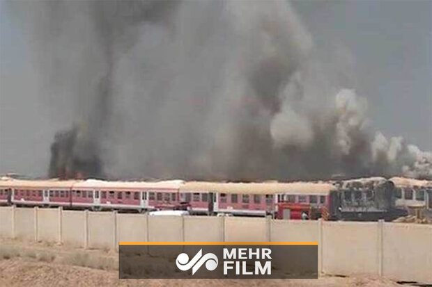 VIDEO: Fire on train depot in Parand, Tehran