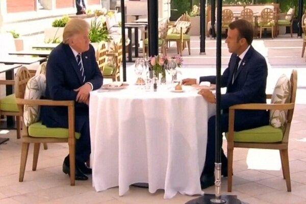 ترامپ و ماکرون دیدار کردند