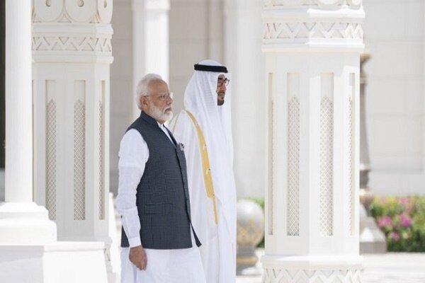 دیدار ولیعهد ابوظبی و نخست وزیر هند