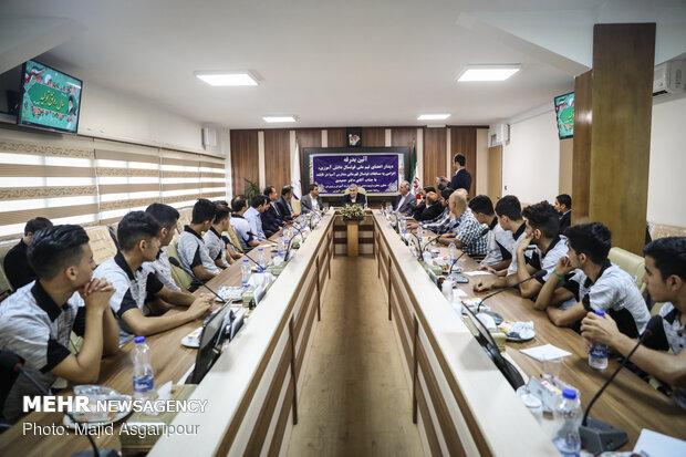آیین بدرقه تیمملی فوتسال دانشآموزی برگزار شد