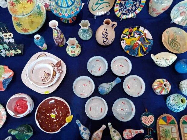 جشنواره صنایع دستی در  شهر جدید صدرا  آغاز شد