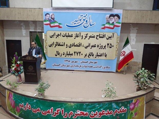 افتتاح ۲۲۰میلیاردتومان پروژه بنیاد مسکن گلستان/۱۲۲۱ واحد مقاوم شد