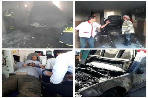 انفجار یک خودرو گاز سوز در نسیم شهر ۹ نفر را روانه بیمارستان کرد