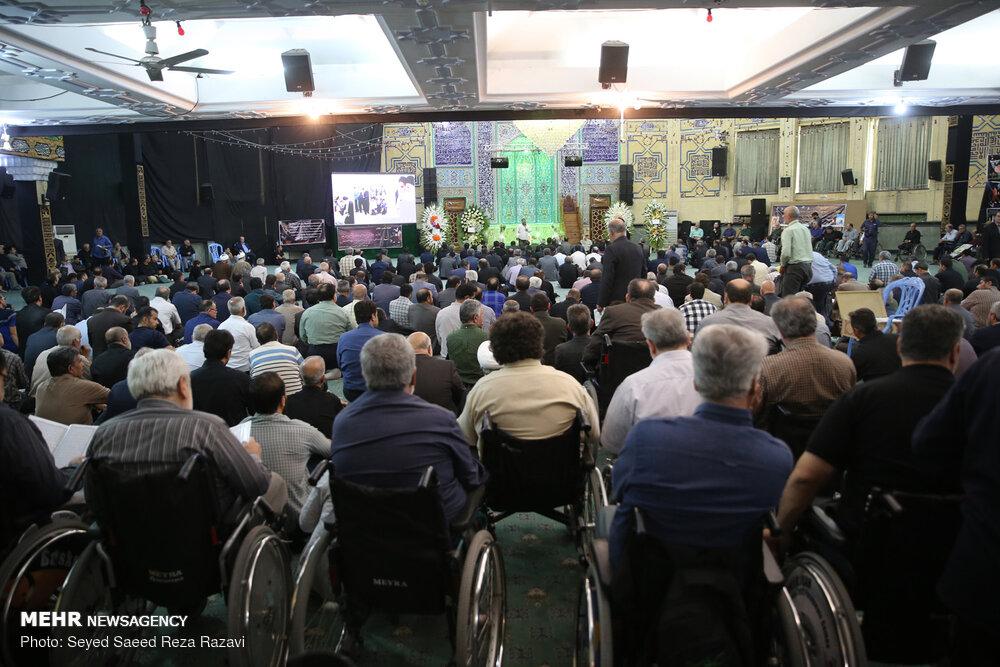 مراسم ترحیم و بزرگداشت جانباز شهید حاج حسن سماواتی