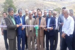 دو پروژه عمرانی در بخش محمدیه افتتاح شد