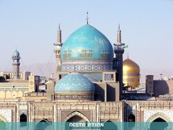 A view of Goharshad Mosque next to Imam Reza (AS) shrine in the northeastern Iranian city of Mashhad.