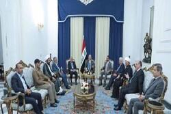 نشست ویژه عبدالمهدی-برهم صالح و حلبوسی با مسئولان حشد شعبی عراق