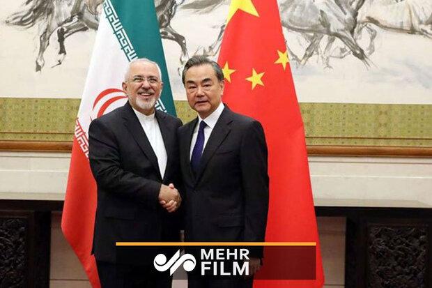 ظریف کی چینی وزیر خارجہ سے ملاقات