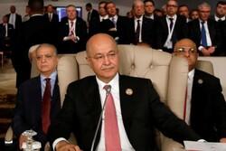 Irak Cumhurbaşkanı Salih: Bölgede savaş istemiyoruz