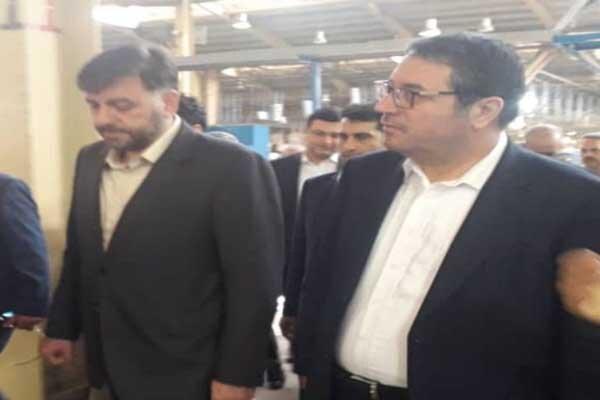 بازدید وزیر صنعت، معدن و تجارت از ۳ واحد صنعتی در شهرستان خمین