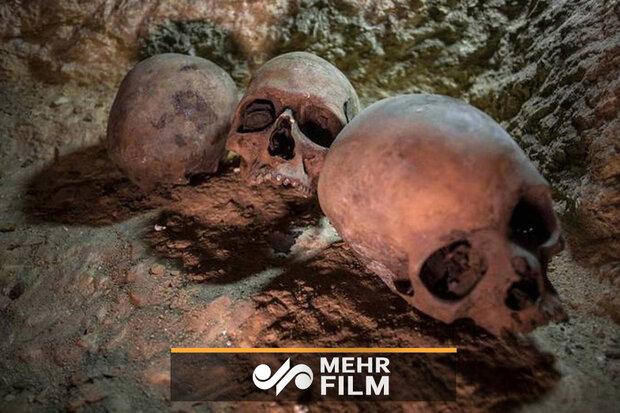 فیلمی از گورستان کشف نشده در روسیه