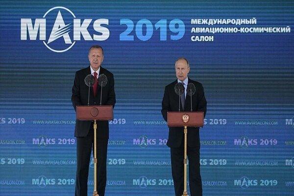 اردوغان: حجم تجارت ۱۰۰ میلیارد دلاری با روسیه را انتظار داریم