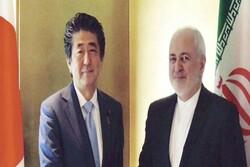 ظريف يلتقي برئيس الوزراء الياباني