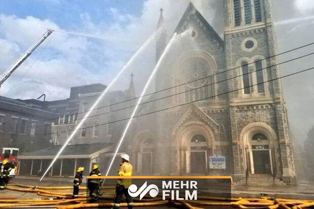 فلاڈیلفیا میں گریٹر بابل چرچ میں آگ لگ گئی