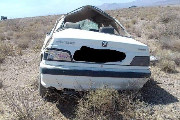 ۲ کشته و ۳ مصدوم در تصادف دو خودرو سواری