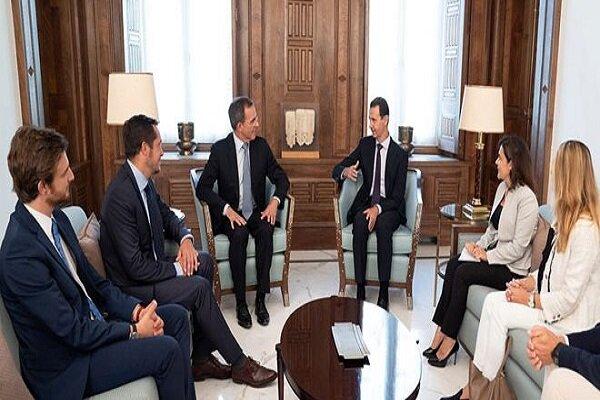 شام کے صدر بشار اسد سے فرانسیسی وفد کی ملاقات