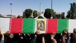 پیکر بسیجی شهید «محسن غلامی» تشییع شد
