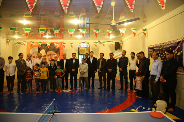 راهاندازی ۹ خانه ورزش روستایی در شهرستان تنگستان