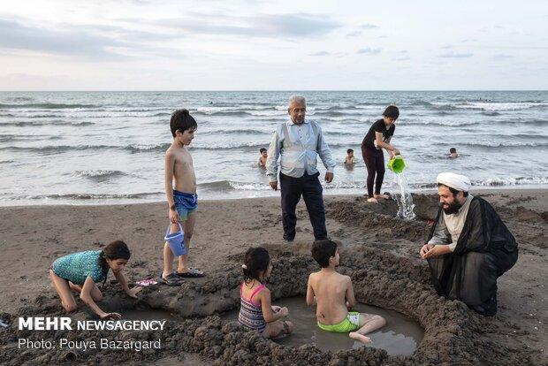 حضور متفاوتِ طلاب در سواحل گیلان