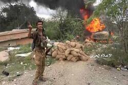 انهدام خودرو نظامیان سعودی در نجران/ تسلط بر مواضع سعودی ها در جیزان