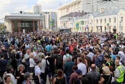 معترضان خواستار برگزاری انتخابات آزاد برای شورای شهر مسکو شدند