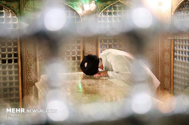 مراسم ازالة الغبار عن مضجع ثامن الائمة (ع)