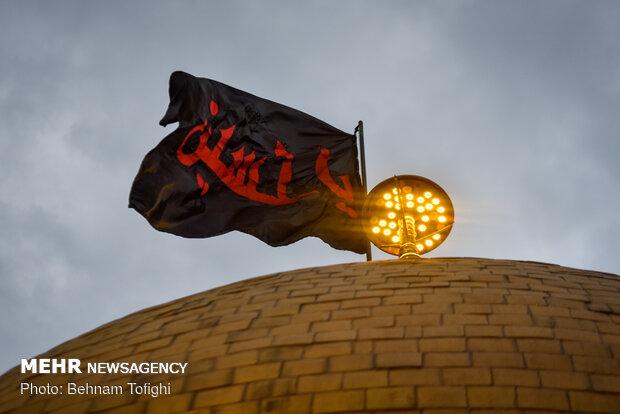 آيين تعويض پرچم گنبد حضرت عبدالعظيم حسنی عليه السّلام