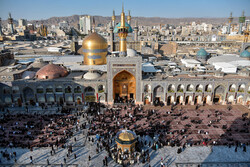 'Salat' traditional ritual held at holy shrine of Imam Reza (PBUH)