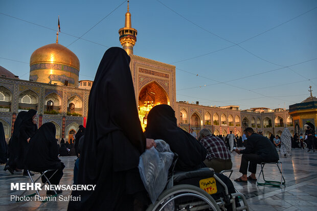 """SALAT"" traditional ritual in holy shrine of Imam Reza (AS)"