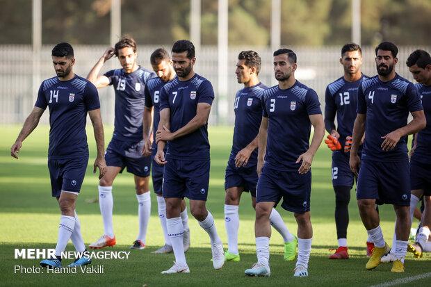 İran Milli Futbol Takımı ilk antrenmanına çıktı